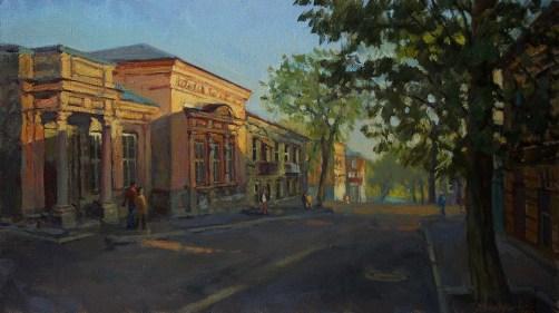 """Дом П.Н.Врангеля"" холст, масло 40х70 2016г."