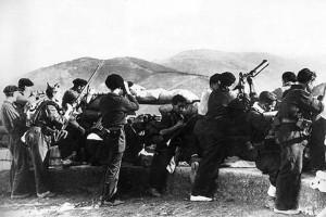 Milicianos en San Marcial