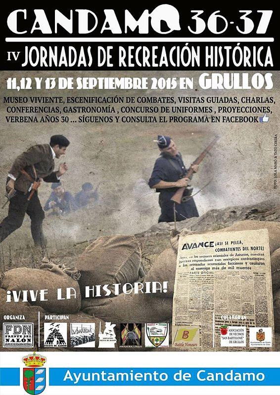 """Cartel de """"Candamo 36-37"""" 2015"""