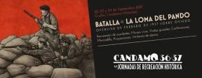 Cartel Recreación Histórica. Candamo 36-37 Jornadas de Recreación Histórica 2017