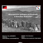 """Falencia / Hitzaldia """"Anarquistas galegos en Euskadi: O Batallón Bakunin"""""""
