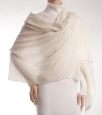 Pashmina shawl of white - Luberone