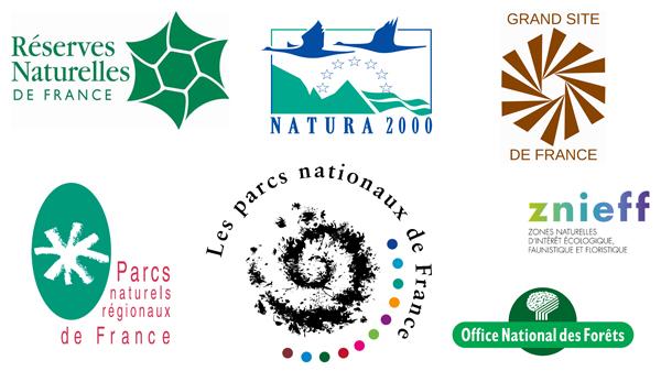 Les différentes aires naturelles protégées en France