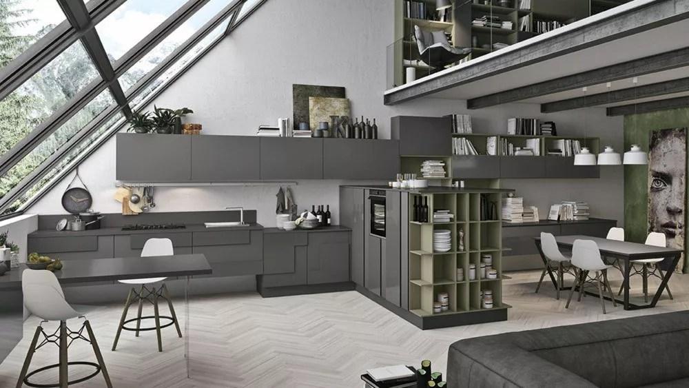 Cucina open space le soluzioni di Lube store per unire cucina e soggiorno  Lube Store Milano