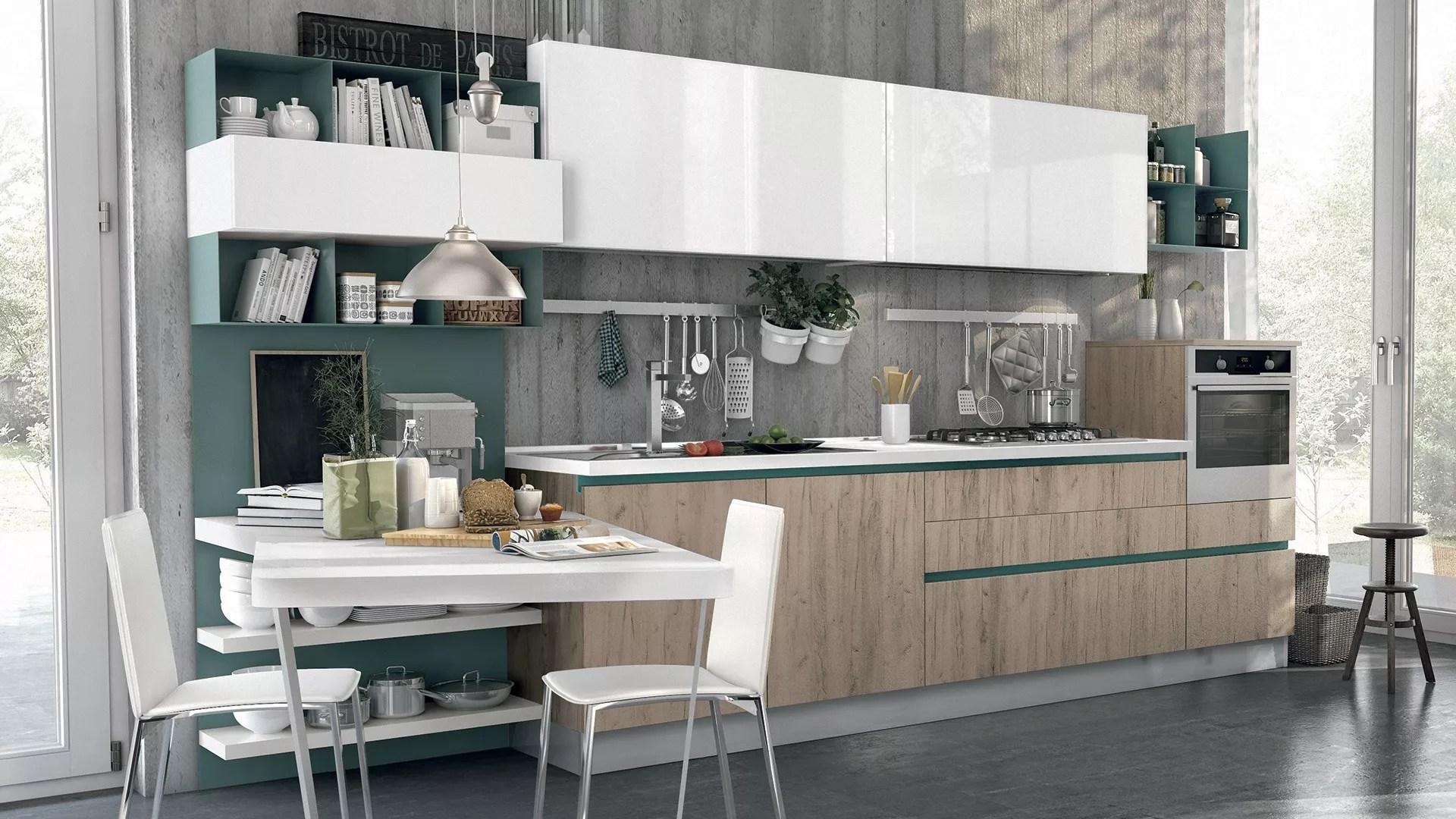 Come valorizzare una cucina bianca idee e spunti  Lube Store Milano  Le Cucine Lube  Creo a Milano