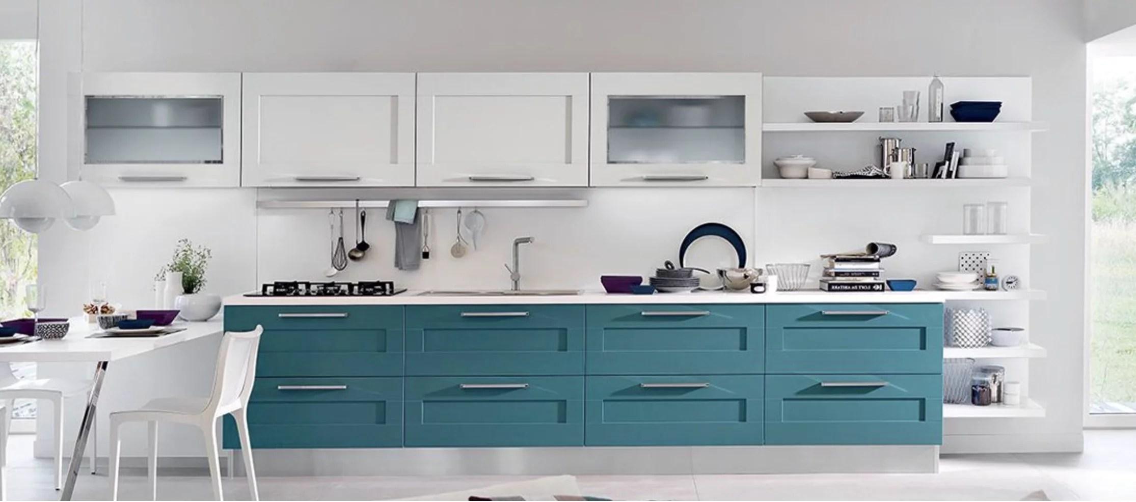 Cucina Moderna Bianca E Blu | Colori Cucina Quali Scegliere ...