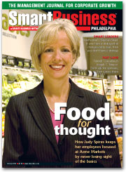 October 2007 Smart Business Cover Photo of Judy Spires, President of Acme Markets.