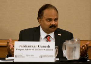 Dr. Jaishankar Ganesh, Dean of the Business School at Rutgers-Camden