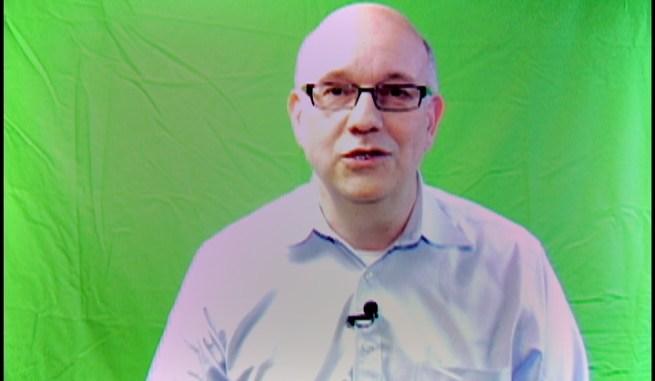 Steve on green screen