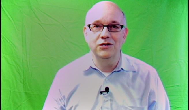 Steve on green screen