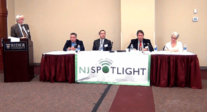 NJSpotlight Clean Fuels Panel gets underway at Rider University November 15, 2013.