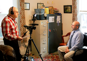 Videotaping interview with Bob Frankenfield