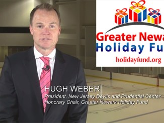 The Greater Newark Holiday Fund's 2015 public service announcement features a message from honorary chair Hugh Weber, president of the New Jersey Devils. It's the second year The Lubetkin Media Companies have produced the PSA, seen by thousands of hockey fans during the holiday season games at the Prudential Center.