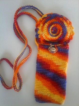 Pochette téléphone en crochet-crochetfil et création