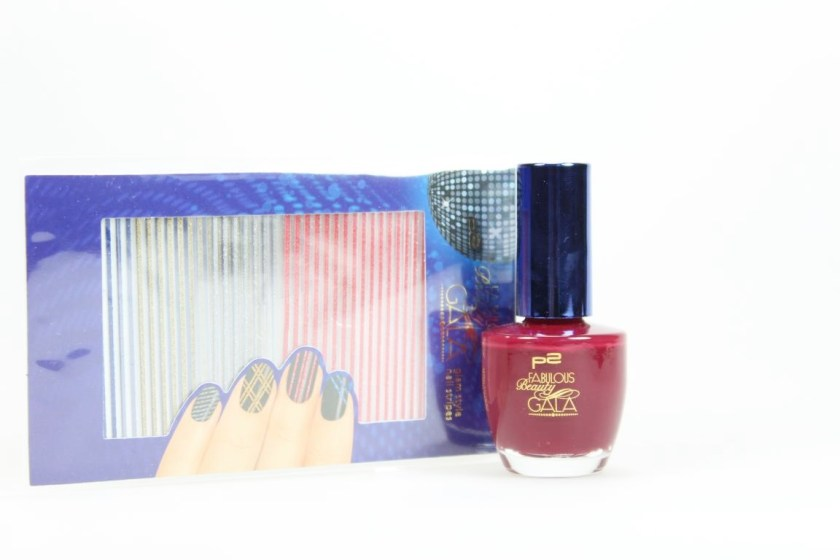 "p2 cosmetics ""Sweet Addiction Nail Polish 010 sensual red"" und Glam Style Nail Stripes"