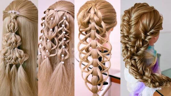 Очень красивые косы без плетения. Праздничные причёски. Смотрите подробные видео уроки.