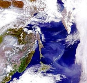 Остров Сахалин из космоса