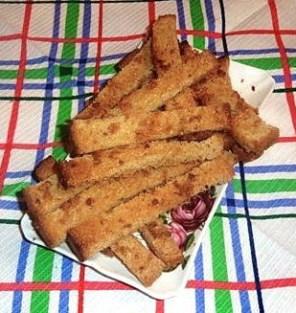 румяные хлебные палочки