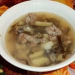 Суп из морской капусты с фрикадельками