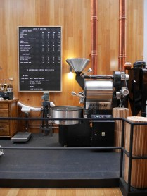 The centerpiece, the coffee roaster