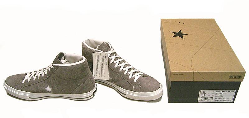 CONVERSE ONE STAR CLASSIC 74 MID ワンスタースウェード 灰 USA限定 - Luby's (ルビーズ)