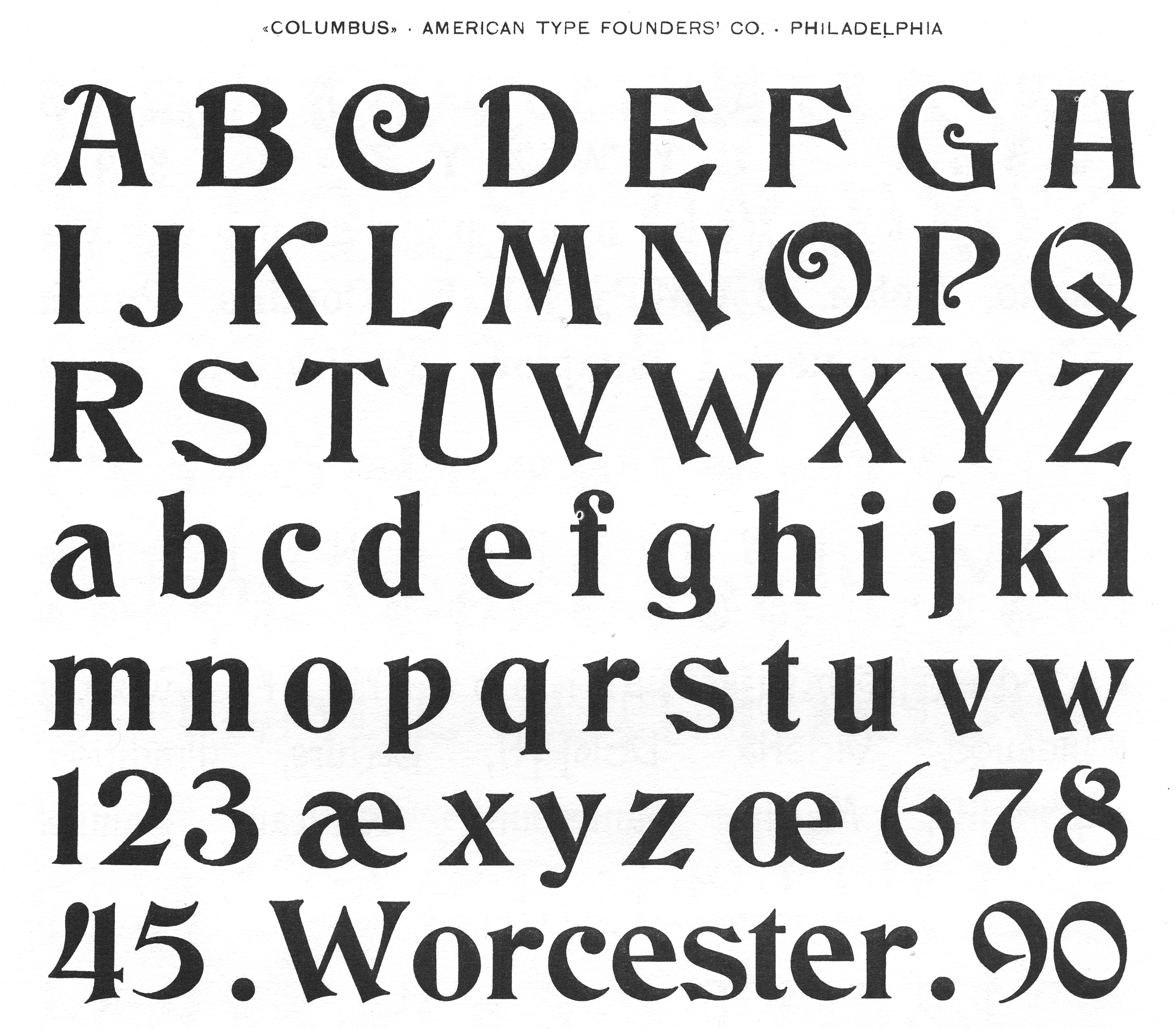 Victorian Letters Of The Alphabet