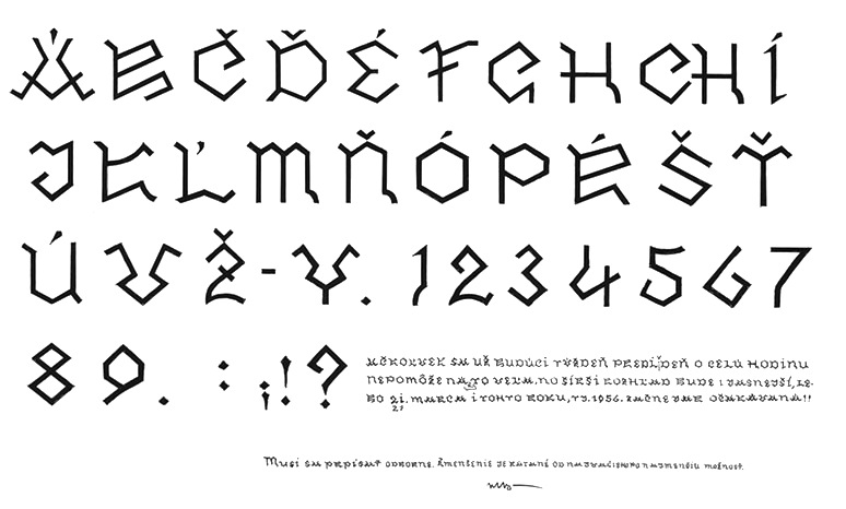 The Slovak font scene