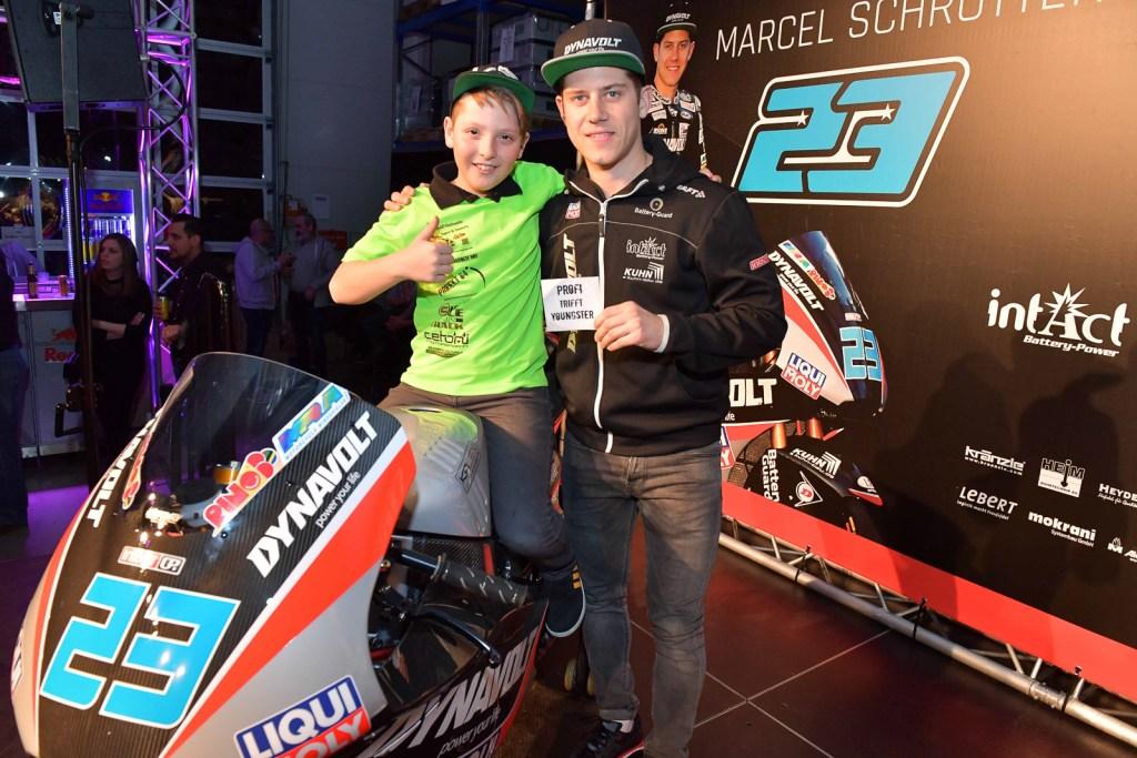 Luca und Marcel Schrötter auf der 2018 Kalex - Intact GP Team Event