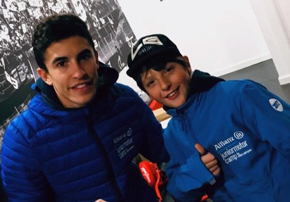 Luca meets Marc Marquez