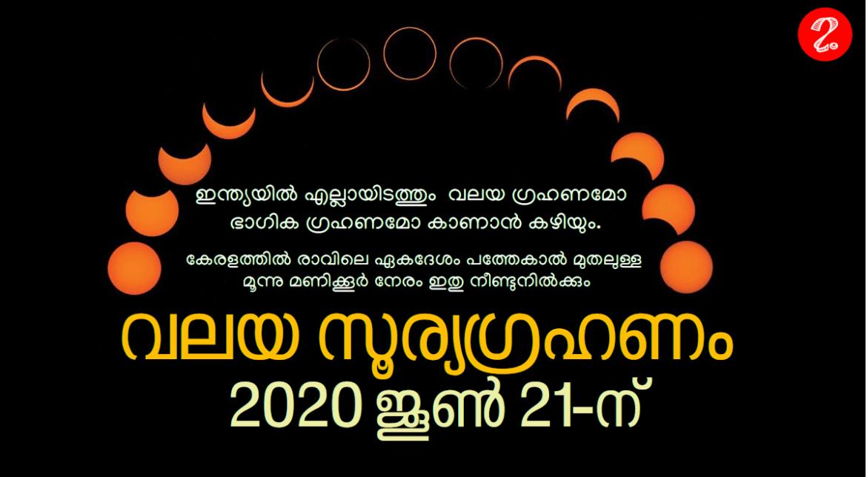 വലയ സൂര്യഗ്രഹണം 2020 ജൂൺ 21-ന്