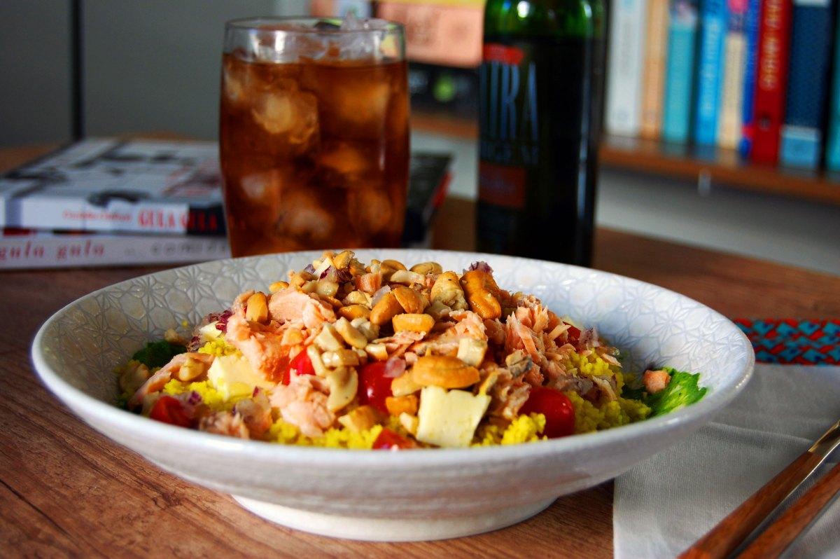 Salada de Couscous Marroquino (inspirada no Gula Gula)