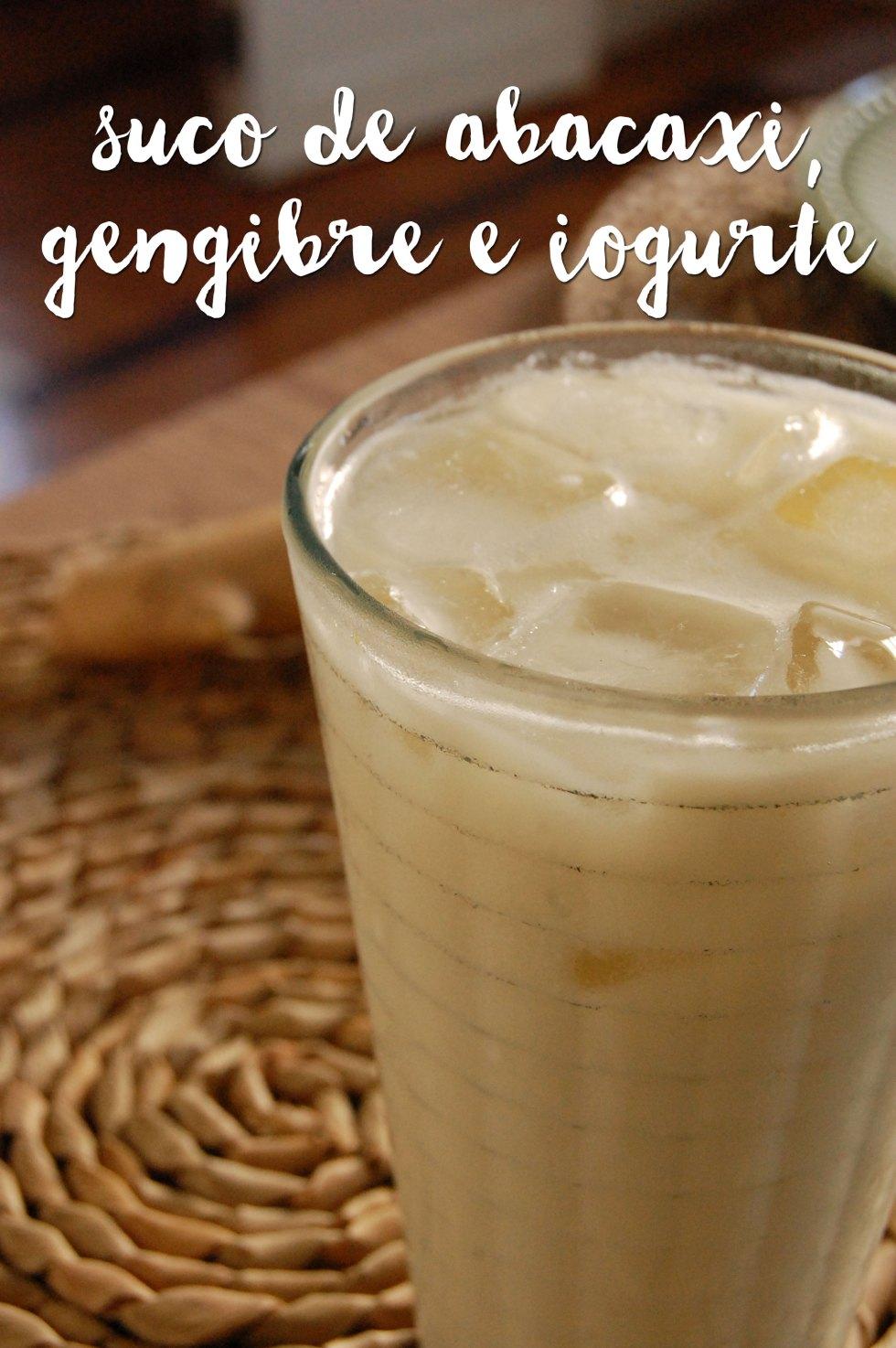 Suco de Abacaxi, iogurte e gengibre 2