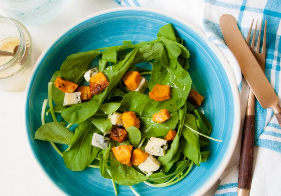 Salada de abóbora assada com gorgonzola1
