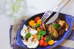 Salada de Berinjela, Tomate e Mozzarella de Búfala 5