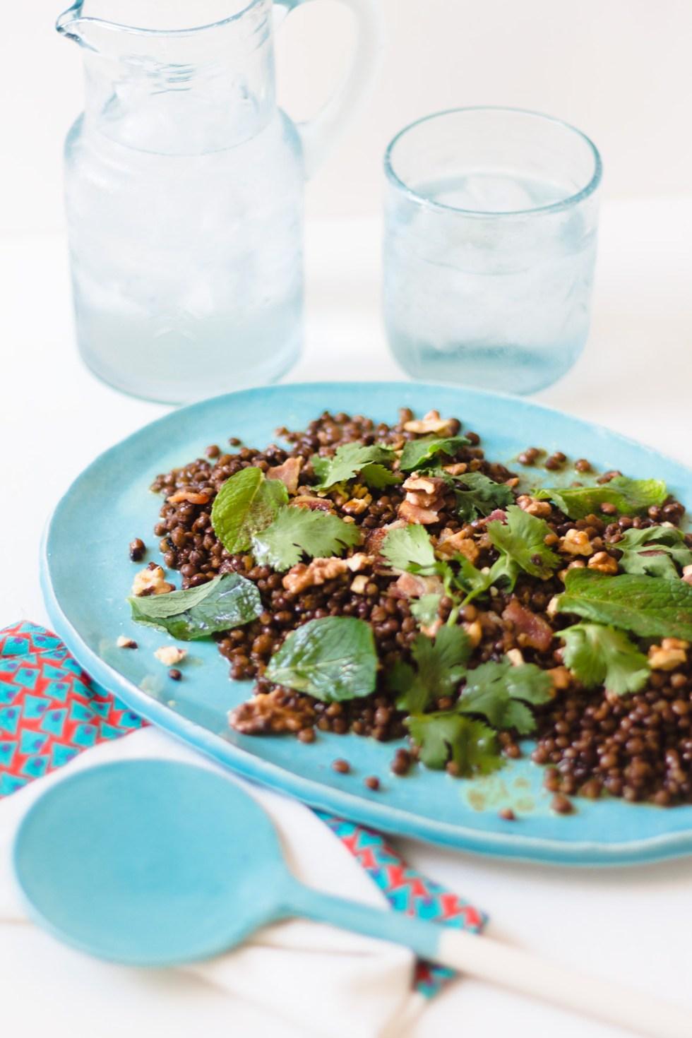 Salada de Lentilhas com Nozes e Bacon 4