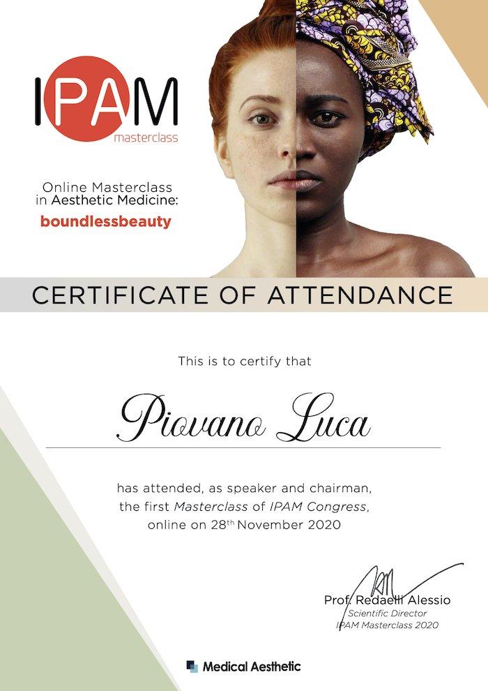 ipam 2020 certificate