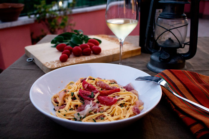 tagliolini alla parmigiana