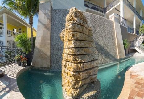 Bradenton custom pool builder custom water feature