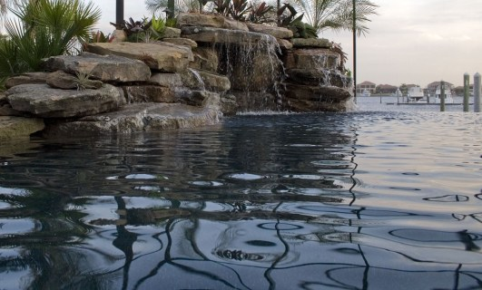 Lagoon pool grotto