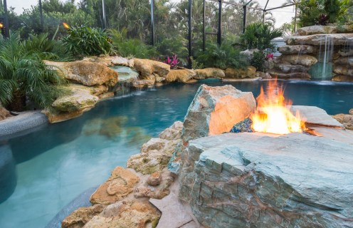 Fire Pit and shallow end