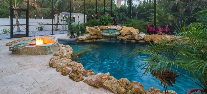 Fire Pit and Second Water Feature
