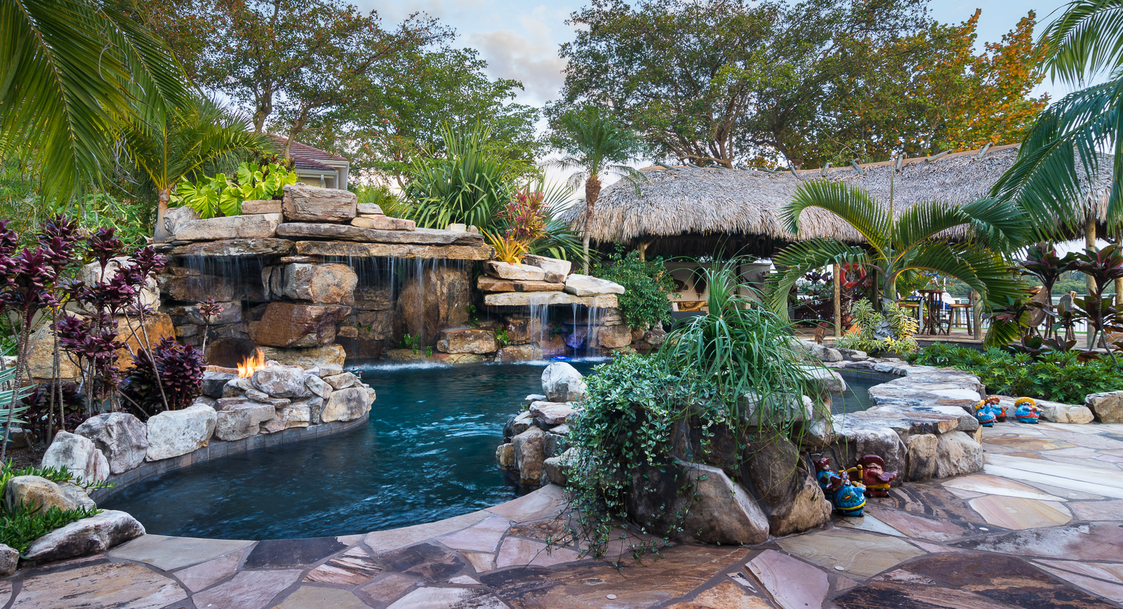 natural rock waterfall pool siesta key donzi 38 - Swimming Pools With Grottos