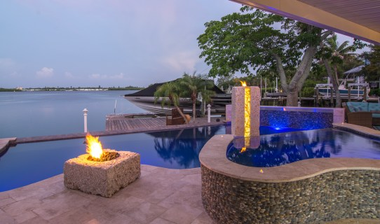 Fire Pit, Spa and View of the Bay