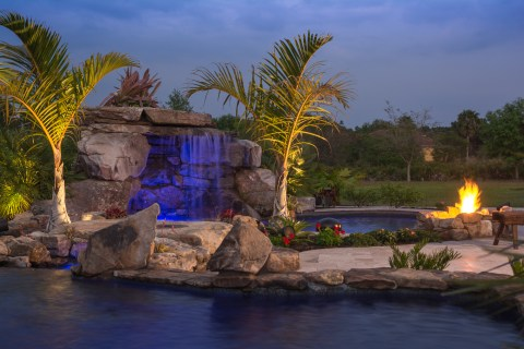 Lagoon Pool with Fire Pit