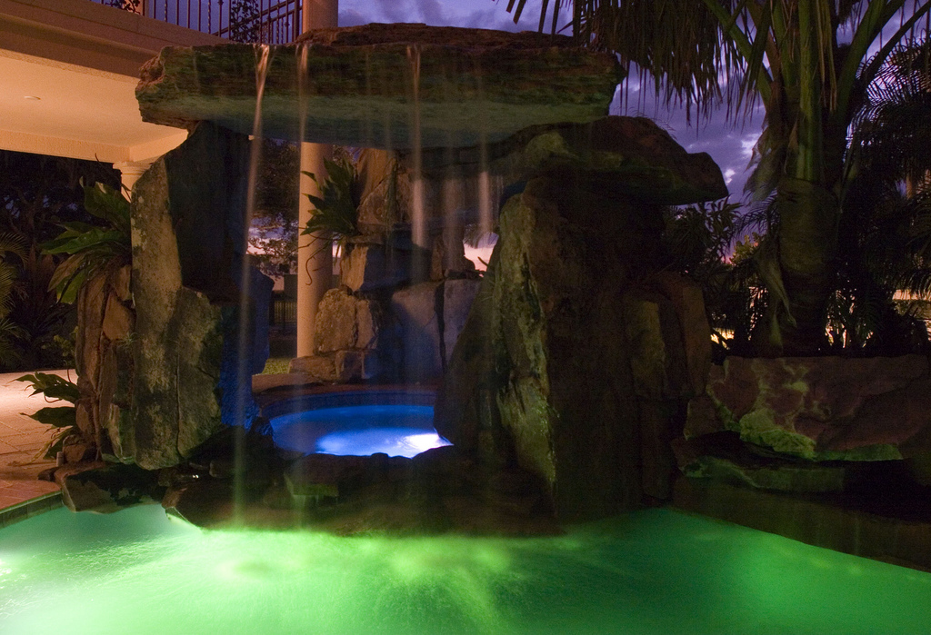 Lagoon Pool With Tall Grotto And Natural Stone Waterfall Lucas Lagoons