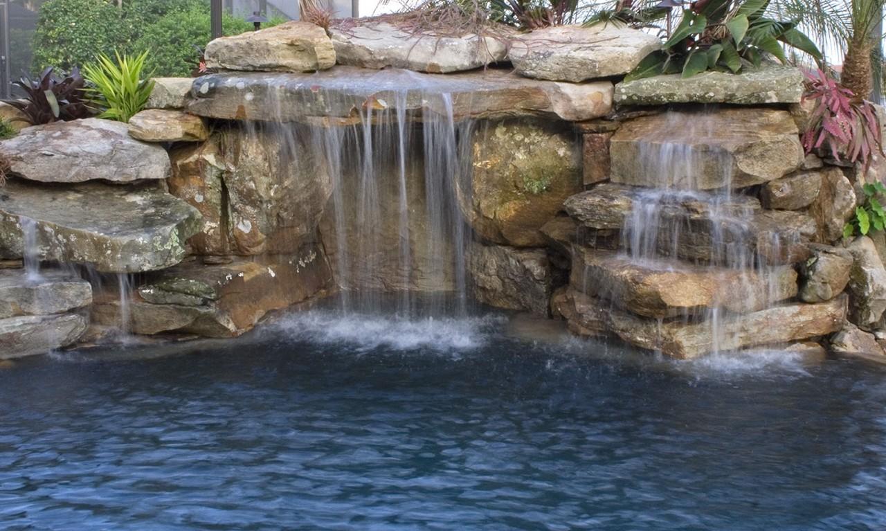 Large Infinity Edge Natural Lagoon Pool Lucas Lagoons