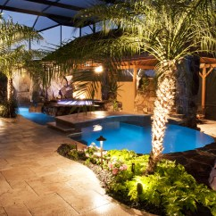 Outdoor Kitchen Bar Gilbert Clock Swimming Pool And Spa With Waterfalls