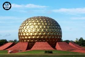 The golden golf ball - Auroville