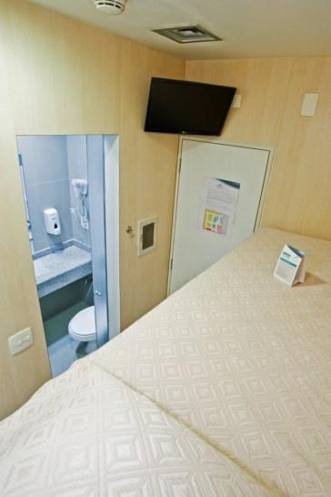 Cama cucheta y baño Fast Sleep Guarulhos