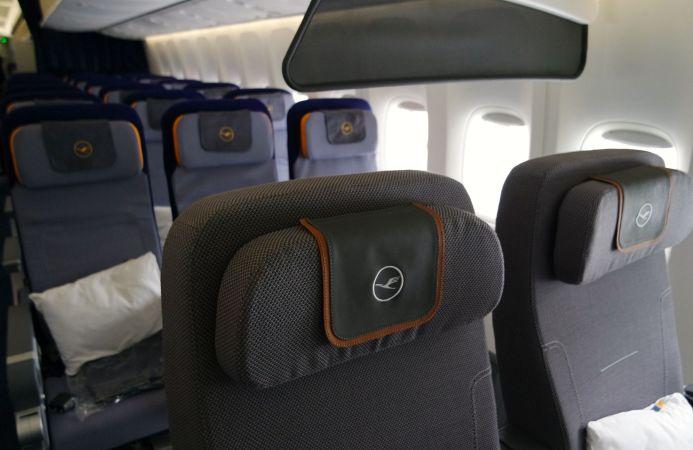 Lufthansa vista de economy de premium
